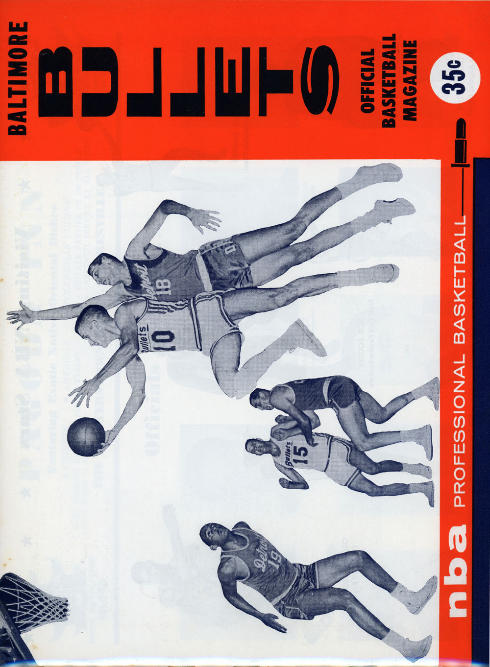 1964 65 NBA BOSTON CELTICS vs BALTIMORE BULLETS GAME PROGRAM